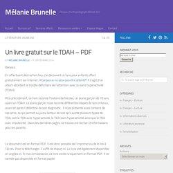Un livre gratuit sur le TDAH - Mélanie Brunelle