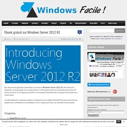 Livre PDF gratuit sur Windows Server 2012 R2