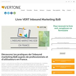Livre VERT Inbound marketing B2B en France