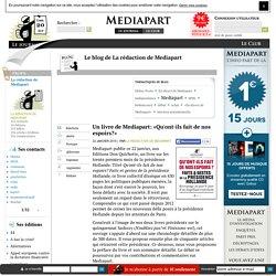 Un livre de Mediapart: «Qu'ont-ils fait de nos espoirs?»