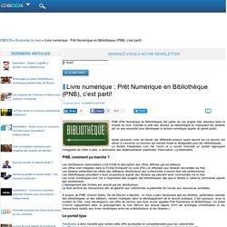 Livre numérique : Prêt Numérique en Bibliothèque (PNB), c'est parti!