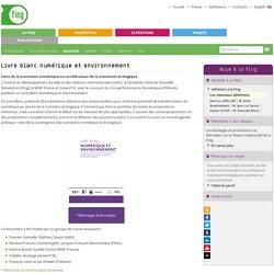 Livre blanc numérique et environnement