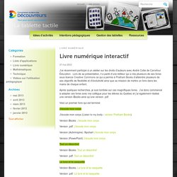 Livre numérique interactif