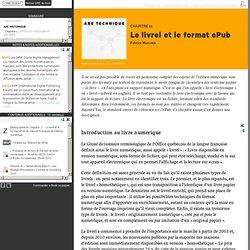 Le livrel et le format ePub - PUM - Collection en libre accès