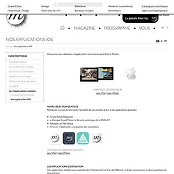 Livres d'art sur iPad, applications de musées et d'exposition pour iOS