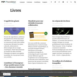 Livres Archives - P2P Foundation