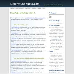 Livres audio gratuits sur internet