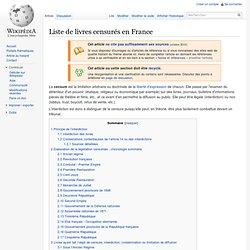 Liste de livres censurés en France du 21ème siecle