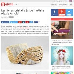 Les livres cristallisés de l'artiste Alexis Arnold