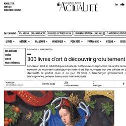 300 livres d'art à découvrir gratuitement en ligne