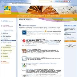 SCD de l'UPPA-Livres électroniques