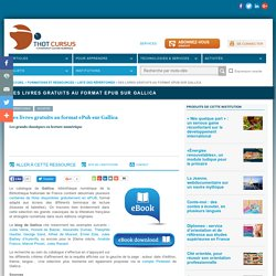 Des livres gratuits au format ePub sur Gallica