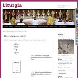 Livres liturgiques en PDF