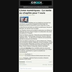 Livres numériques : La vente au chapitre pour 1 euro