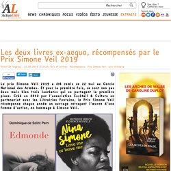 Les deux livres ex-aequo, récompensés par le Prix Simone Veil 2019