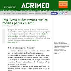 Des livres et des revues sur les médias parus en 2016