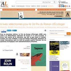 6 livres sélectionnés pour le 2e Prix du Roman d'Écologie