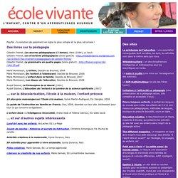 Livres et sites pour une pédagogie active