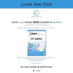Livret One Click