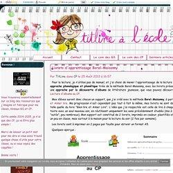 Livrets d'apprentissage Borel-Maisonny - TitLine à l'école
