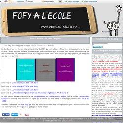 Livrets interactifs pour l'anglais -