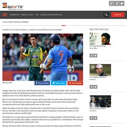 World Cup Semi-final 2: India Vs Australia in Sydney