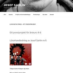 Livsviktig poesi – ett poesiprojekt – Josef Sahlin