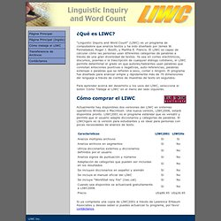 Linguistic Inquiry and Word Count
