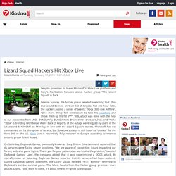 Lizard Squad Hackers Hit Xbox Live