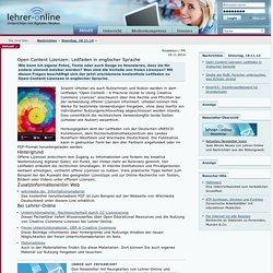 Open Content Lizenzen: Leitfaden in englischer Sprache