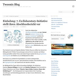 Einladung: 7. Co:llaboratory-Initiative stellt ihren Abschlussbericht vor