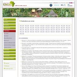 LLACAN - Liste des publications par année