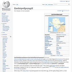 Llanfairpwllgwyngyll - Wikipedia, the free encyclopedia - StumbleUpon