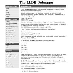 LLDB Data Formatters