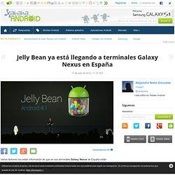 Jelly Bean ya está llegando a terminales Galaxy Nexus en España