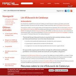 Llei d'Educació de Catalunya