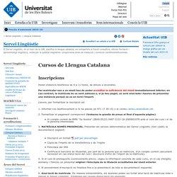 Cursos de Llengua Catalana - - Universitat de les Illes Balears