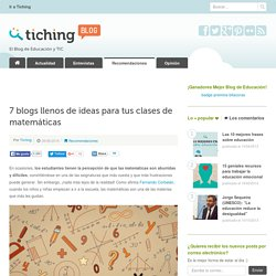 7 blogs llenos de ideas para tus clases de matemáticas