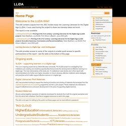 LLiDA Wiki: Main/Home Page