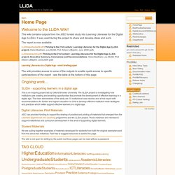 LLiDA Wiki: Learning Literacy for Digital Age (JISCK) Main/Home Page