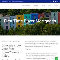 First Time Buyer Mortgages in Bristol