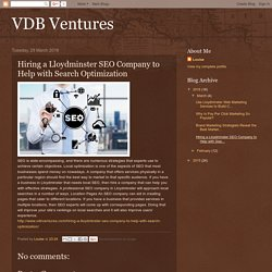 VDB Ventures: Hiring a Lloydminster SEO Company to Help with Search Optimization