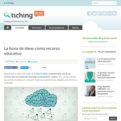 La lluvia de ideas como recurso educativo