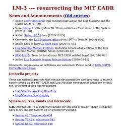 resurrecting the MIT CADR