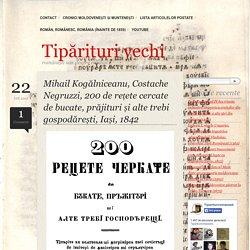 Mihail Kogălniceanu, Costache Negruzzi, 200 de rețete cercate de bucate, prăjituri și alte trebi gospodărești, Iași, 1842