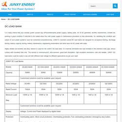 DC Load Bank, Battery Bank - JUNXY ENERGY
