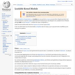 Loadable Kernel Module