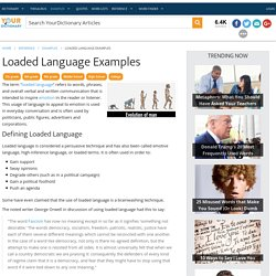 Loaded Language Examples