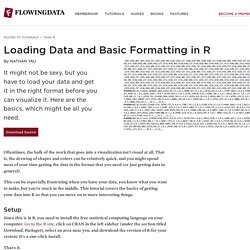 Loading Data and Basic Formatting in R