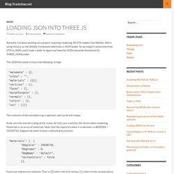Loading JSON into three.js